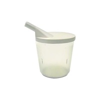 Clear Dysphagia Cup With Snorkel Lid