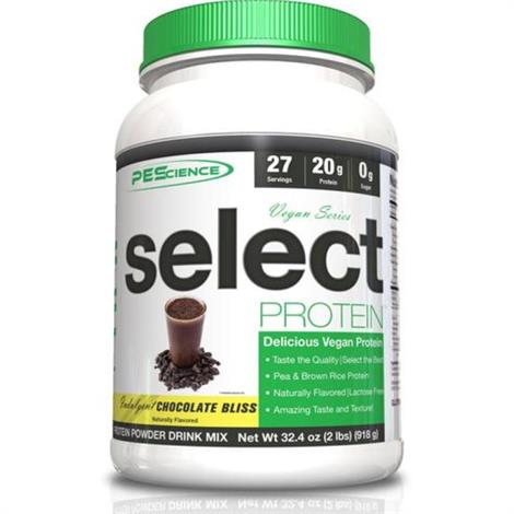 PEScience Select Vegan Protein Dairy-Free Protein Drink,4200123,Peanut Butter Delight, 2lb,Each